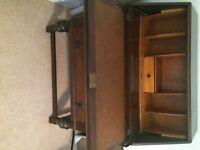Antique writing desk bureau with drawers