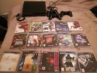 PS3 120 GB + 3 controllers + 15 games