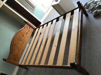 King size pine frame