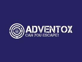 Adventox Escape Game Host - £10/h