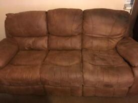 3 seater sofa and 2 singles