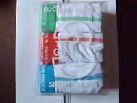 Bjorn Borg White Blue, White Orange, White Green, 3 Boxer Brief Cotton Trunks XL