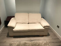 DFS White Jumbo Cord 2 Seat Sofa Bed for sale
