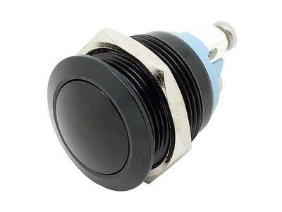 MB19D ATI 19mm Anti-Vandal Momentary Black Metal Push Button Switch Dome (Vandal Push Button Switches)
