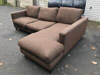 Lovely fabric corner sofa