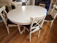 Ikea Dining room table - extenable and 4 chairs