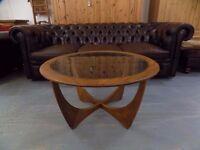Retro Vintage Round Wooden G- Plan Astro Coffee Table