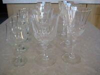 11 ASSORTED STEMMED WINE GLASSES - (Kirkby in Ashfield)