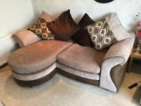 Sofa, Poufee and Futon in Good Condition