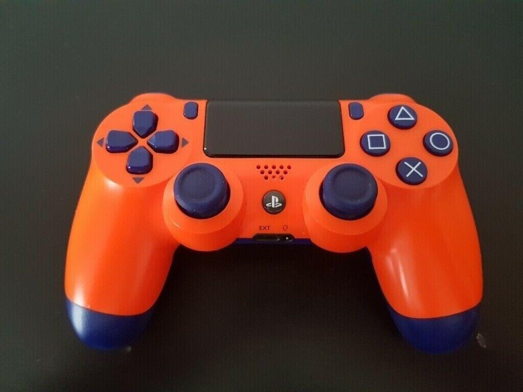 PlayStation PS4 orange wireless controller   in East End, Glasgow   Gumtree