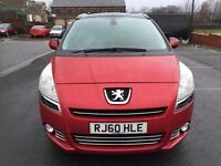 2010 Peugeot 5008 1.6 HDI MPV 7 Seater 1 Owner Full Service History Ready To Go