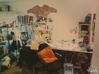 Work/deskspace in creative studio