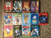 Mixed lot of dvds and blu rays good condition