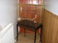 Large bird cage plus stand