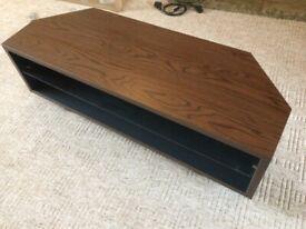 Solid Walnut TV Corner Stand £50!