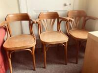 3 chairs with armrests