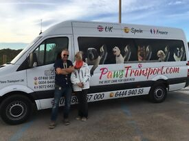 Paws Transport Animal Courier Uk to Spain every Month Defra Animal welfare registered