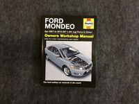 Haynes workshop manual for Mondeo 2007 to2012