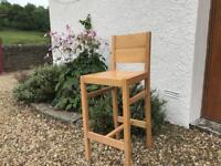 3 Oak bar stools