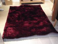 Shag pile shimmer rug