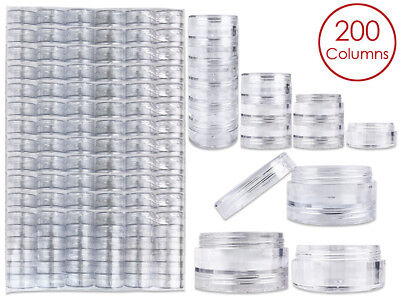 1200 Pieces 5G/5ML Acrylic Stackable Clear Round Container Jar with Screw Cap