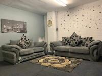 Sold pending Beautiful grey Harvey's sofas 3&2 delivery ex display immaculate sofa suite couch