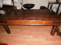 Mexican Dark wood large coffee table