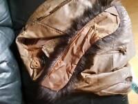 Leather ladys jacket