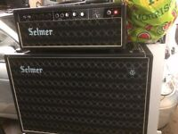 Selmer Treble &Bass valve Amp and Cabinet
