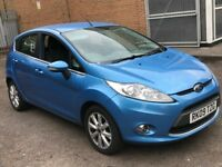 2009 FORD FIESTA 1.6 TDCI ZETEC DIESEL MANUAL 5 DOOR HATCHBACK BLUE 5 SEAT CHEAP INSURANCE N CORSA