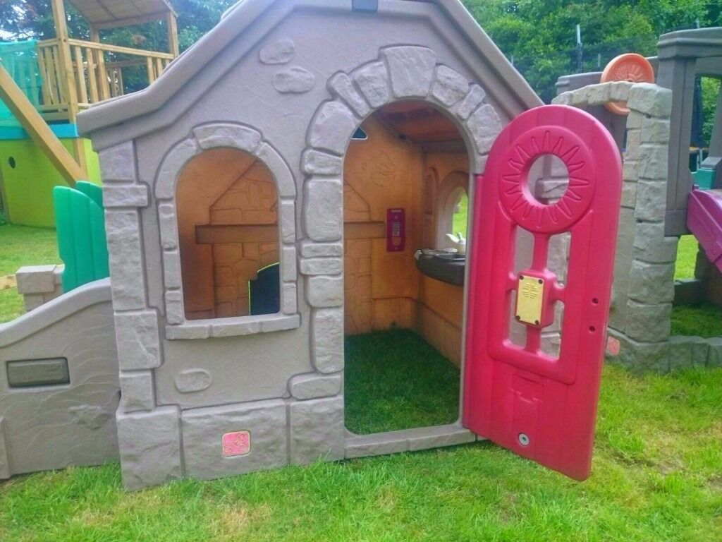 step 2 play wendy house climbing frame slide and picnic. Black Bedroom Furniture Sets. Home Design Ideas