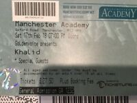1 Khalid ticket for Manchester 17th Feb 2017