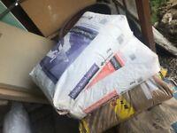 Bag of plaster and bonding