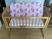 Baby mothercare swinging crib