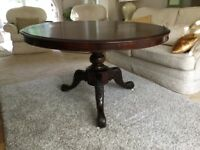 Victorian antique tilt top dining table VGC