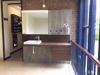 Duravit Delos basin vanity unit basin & mirror