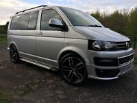 "2006 VW TRANSPORTER 2.5 DSG T5 campervan sportline facelift full camper CONVERSION windows 20"" sink"