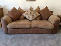 2 X Sofa's with matching footstool for sale