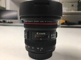 Canon F4 8-15mm fisheye lens