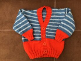 Boys hand knitted cardigan