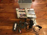 Xbox 360 console and 27 games