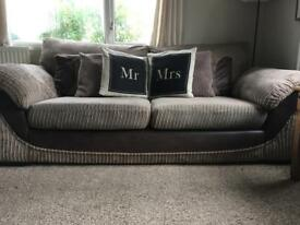 Sofa, swivel chair and storage footstool