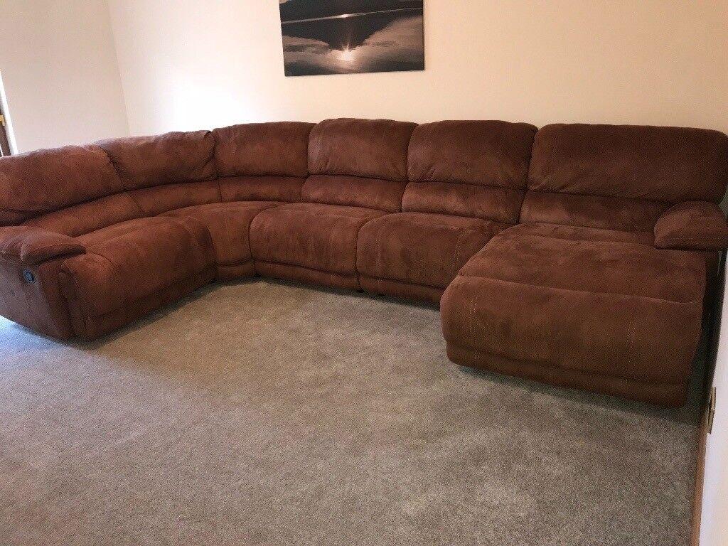 Large Brown Fabric Corner Sofa In Cupar Fife Gumtree