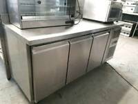 commercial counter freezer 3 door catering equipment blizzard foster williams freezer