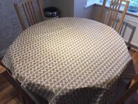 Brown PVC Table Cloth