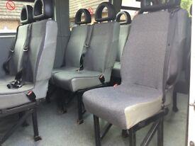 Minibus seats single units