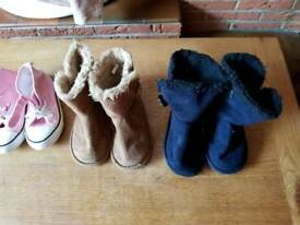 Brand girls boots and canvas shoes