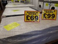 BRAND NEW DOUBLE BEDS IN WRAPPERS BASE AND MATTRESS(price from)