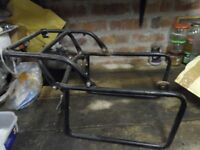 Krauser Pannier and Top Box Frame for Early BMW Twinshock Airheads