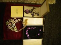 3 BEAUTIFUL SETS OF JEWELLERY ALL BOXED